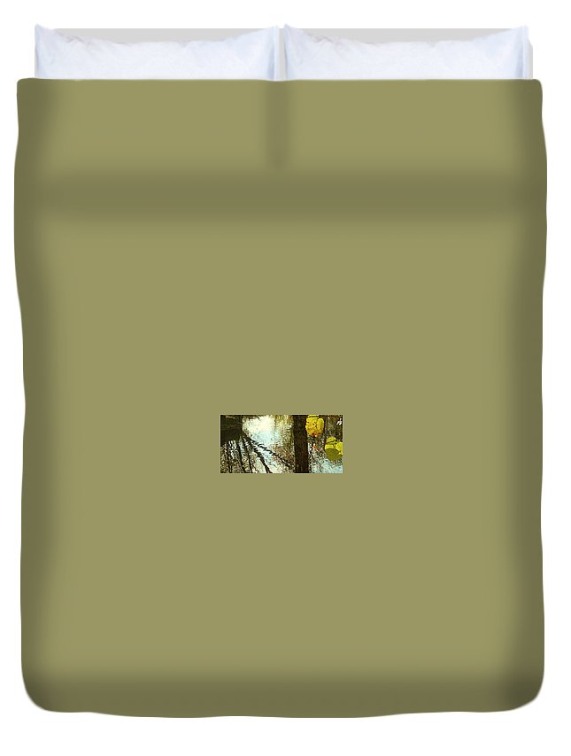 Ny Fall Photography Nature Duvet Cover featuring the photograph Impressions Of A Ny Fall by Philip Gennuso