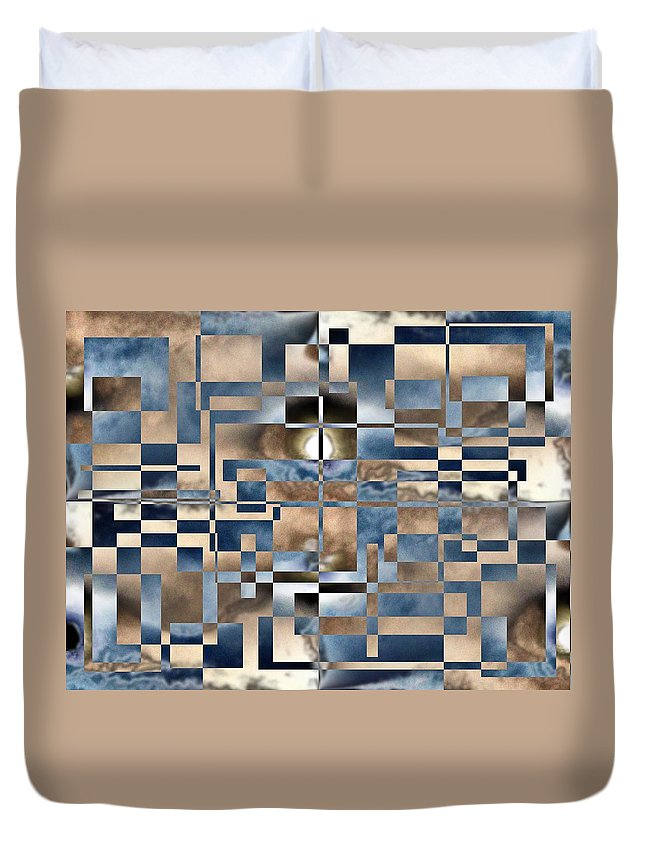 Abstract Duvet Cover featuring the digital art In A Fog by Tim Allen