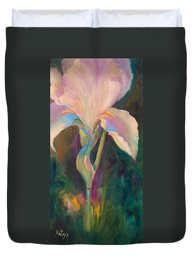 Nature Duvet Cover featuring the painting In Her Glory by Nataya Crow