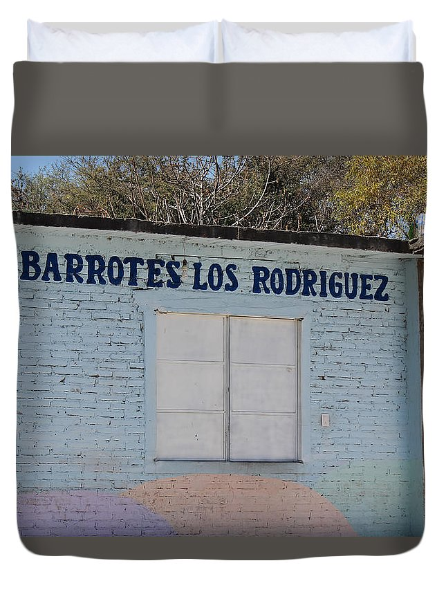 Duvet Cover featuring the photograph In Mexico by Cathy Anderson