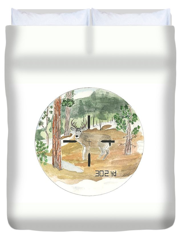Range Duvet Cover featuring the painting In Range by Sara Stevenson