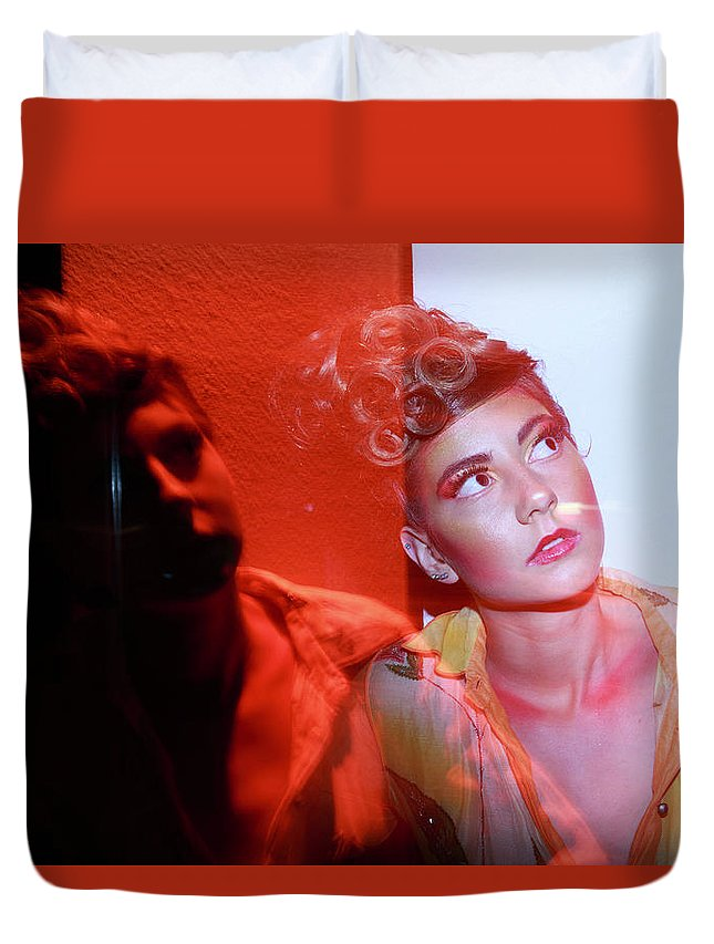 Indi Models Duvet Cover featuring the photograph In The Dark N In The Light by Bharathan Kangatheran