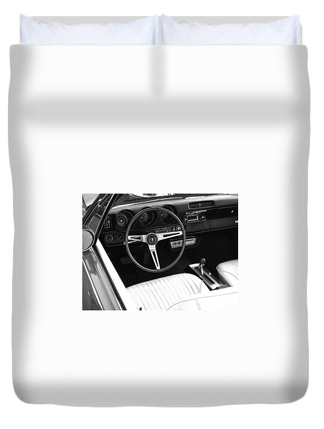 Muscle Car Duvet Cover featuring the digital art In The Driver's Seat 2 by Jeremey Nutt