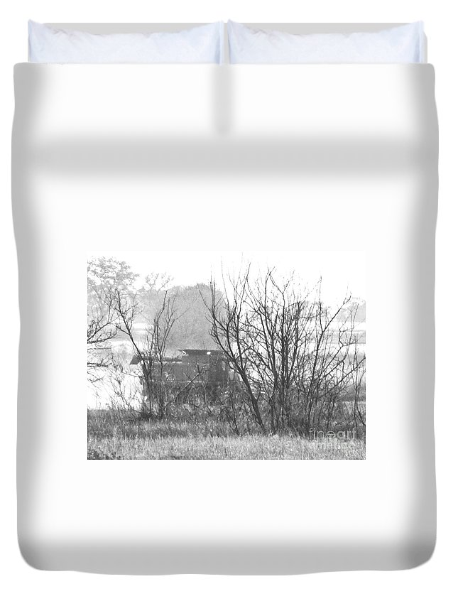 Harvest Duvet Cover featuring the photograph In The Dust Of The Harvest by Curtis Tilleraas