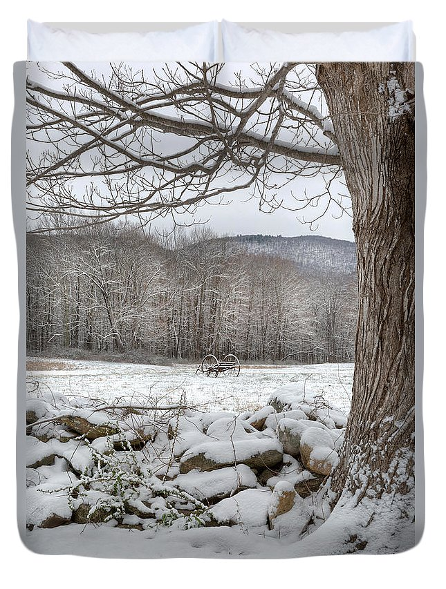 Winter Duvet Cover featuring the photograph In The Field by Bill Wakeley