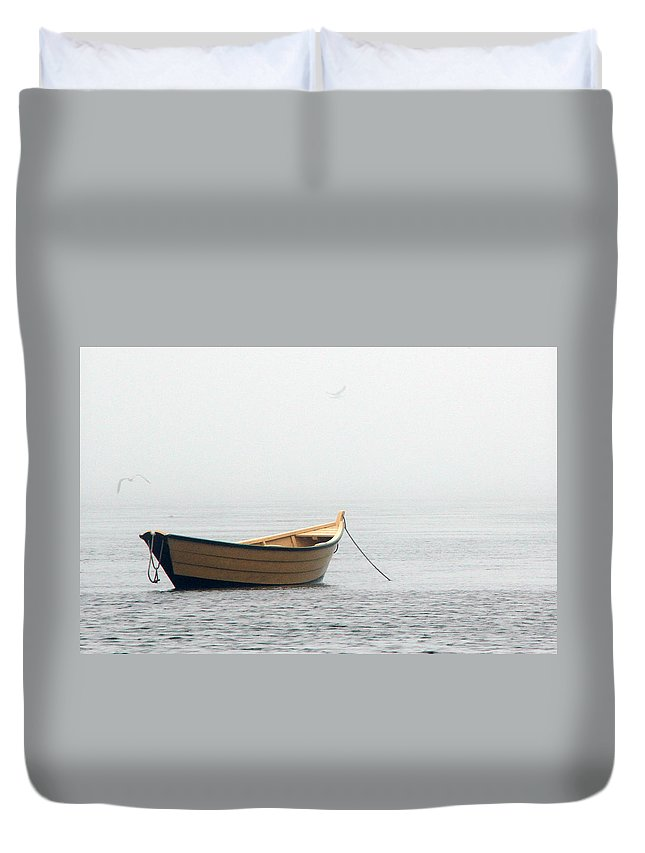 Dory Duvet Cover featuring the photograph In The Fog by Dennis Drews