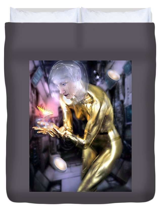 Finr Art Duvet Cover featuring the photograph In The Future by Cliff Nixon