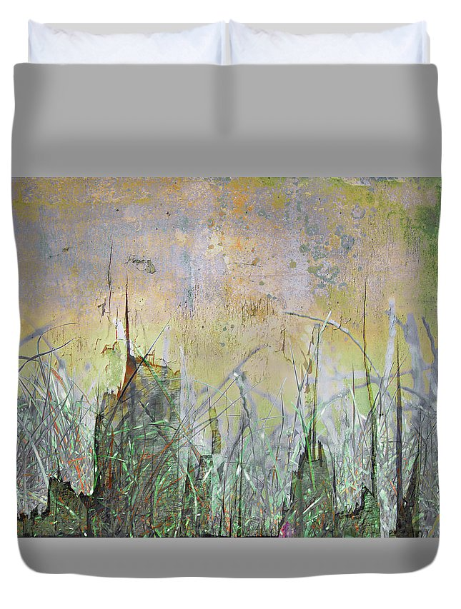 Texture Duvet Cover featuring the photograph In The Grass by Hal Halli