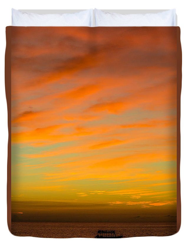 Sailing Duvet Cover featuring the photograph In The Heat Of The Night by Rene Triay Photography