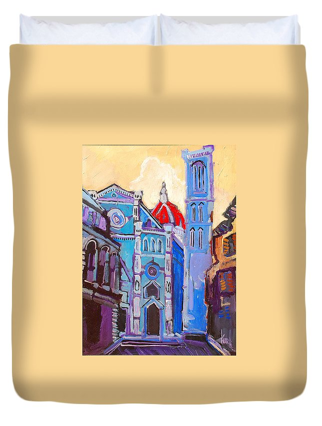 Florence Duvet Cover featuring the painting In The Middle Of by Kurt Hausmann