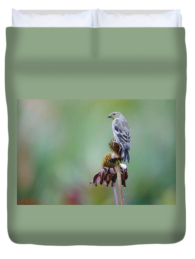 Digital Photography Duvet Cover featuring the photograph In The October Rain by Jeff Swan