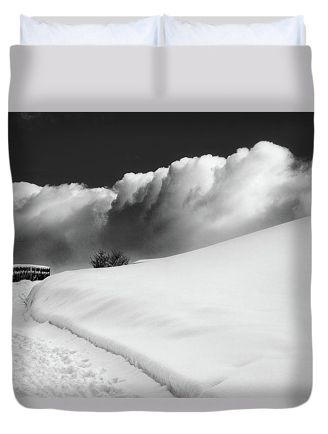 Bw Duvet Cover featuring the photograph in the Ore Mountains by Dorit Fuhg