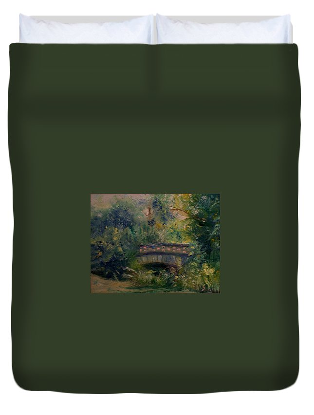 Landscape Duvet Cover featuring the painting In The Park by Stephen King