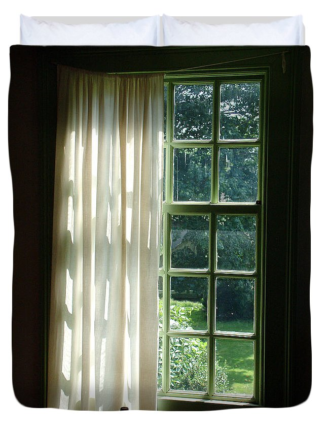 Window Duvet Cover featuring the photograph In The Quiet Of The Afternoon by RC deWinter