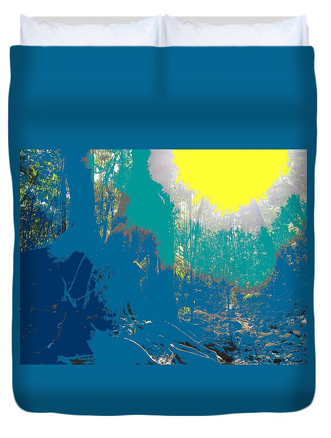 Rainforest Duvet Cover featuring the photograph In The Rainforest by Ian MacDonald