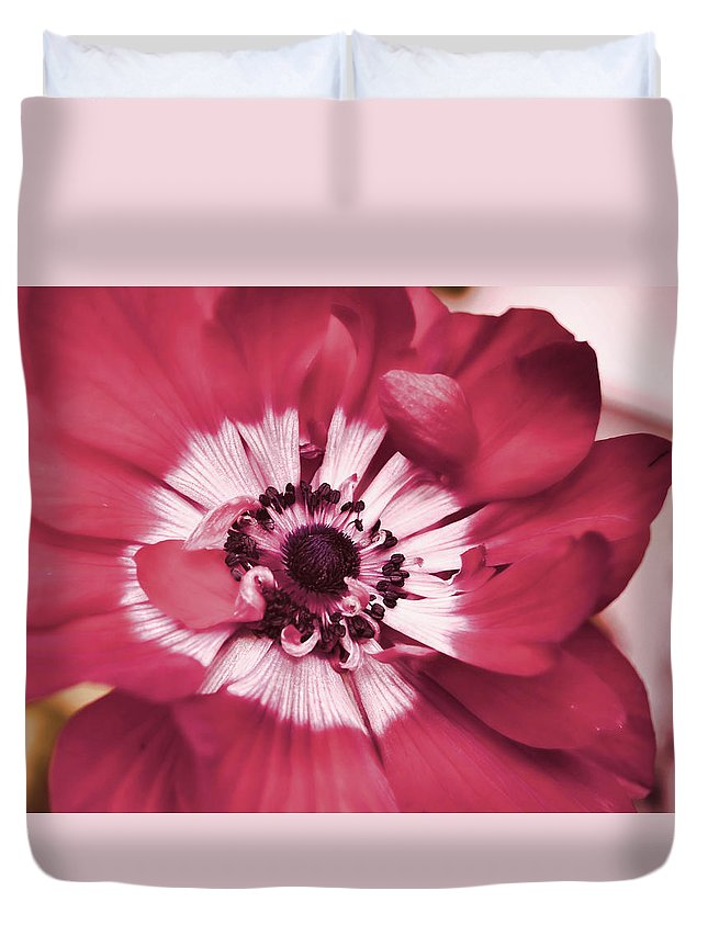 Red Duvet Cover featuring the photograph In The Red by JAMART Photography