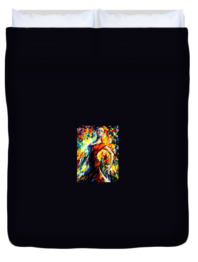 Afremov Duvet Cover featuring the painting In The Style Of Flamenco by Leonid Afremov
