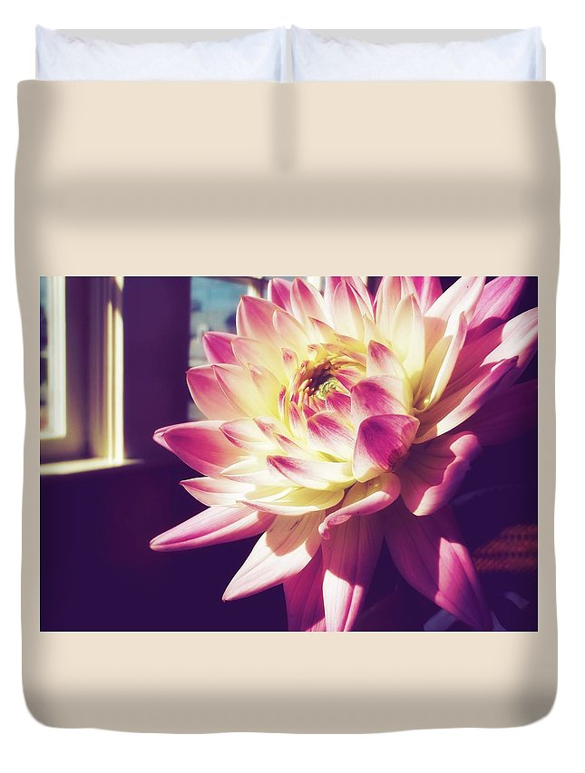 Flower Duvet Cover featuring the photograph In The Sunshine by JAMART Photography