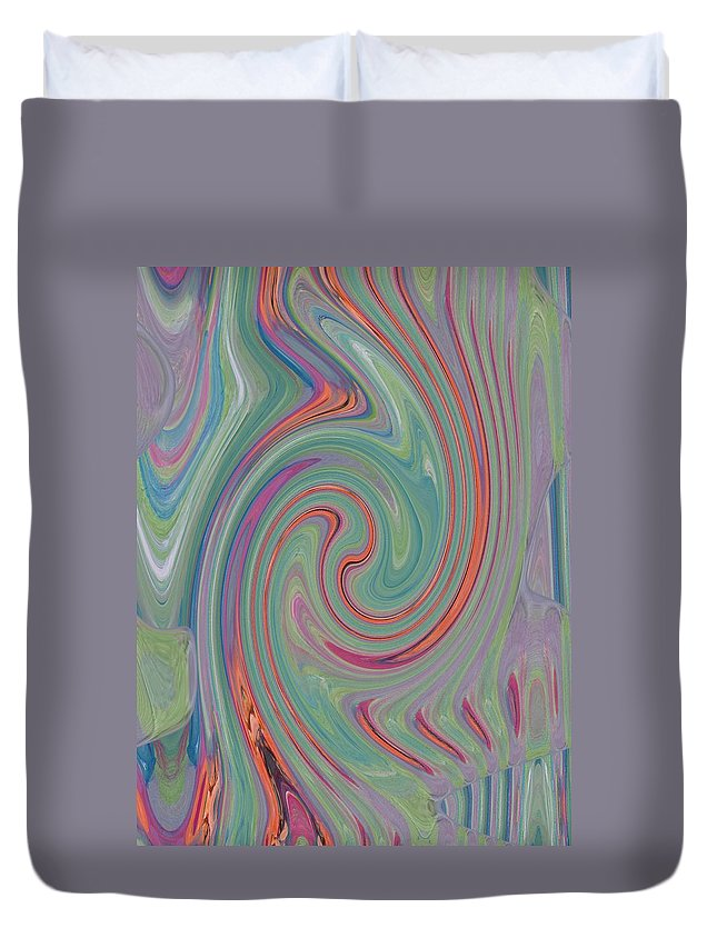 Abstract Duvet Cover featuring the digital art In The Womb by Lenore Senior