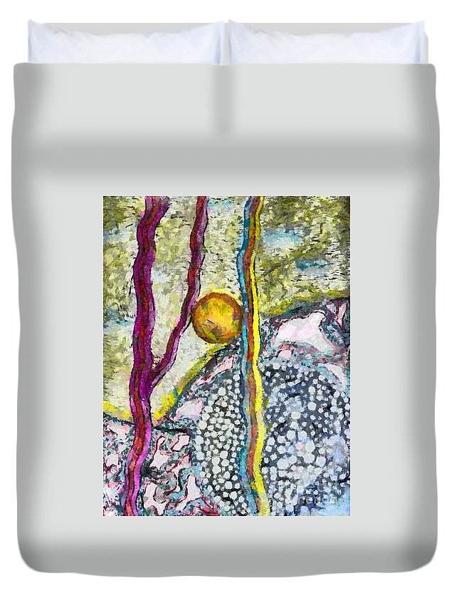 In The Woods And Swamps Sureal Duvet Cover featuring the drawing In The Woods And Swamps by Yury Bashkin