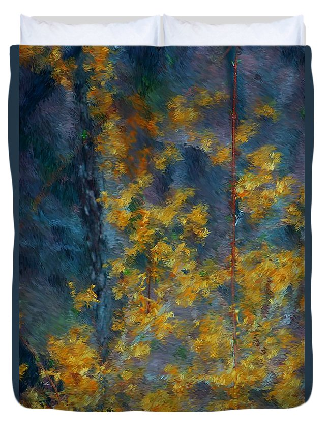 Duvet Cover featuring the photograph In The Woods by David Lane