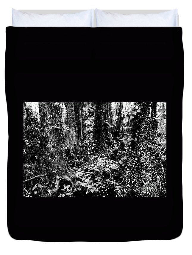 Forest Duvet Cover featuring the photograph In Thick by David Lee Thompson