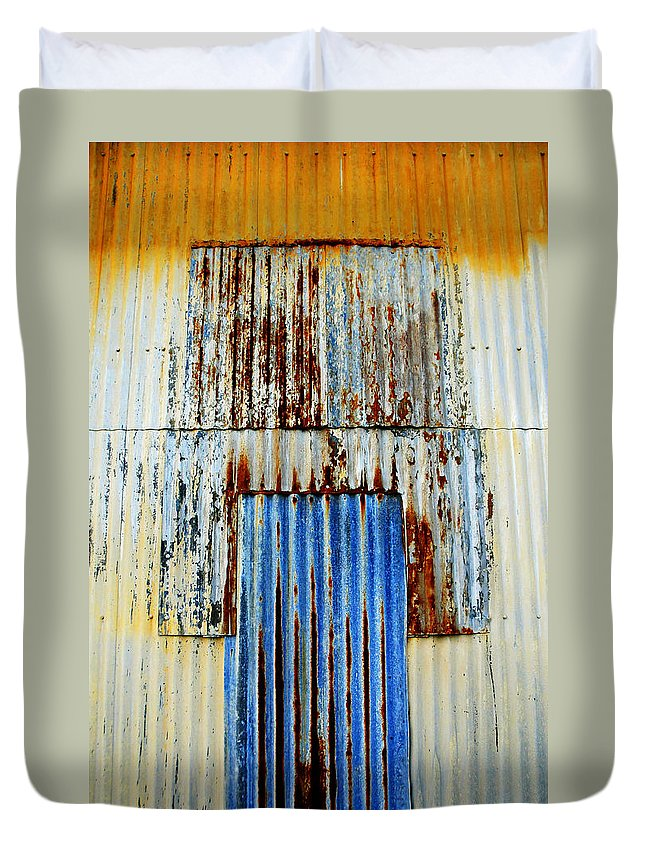 Skip Hunt Duvet Cover featuring the photograph In Through The Out Door by Skip Hunt