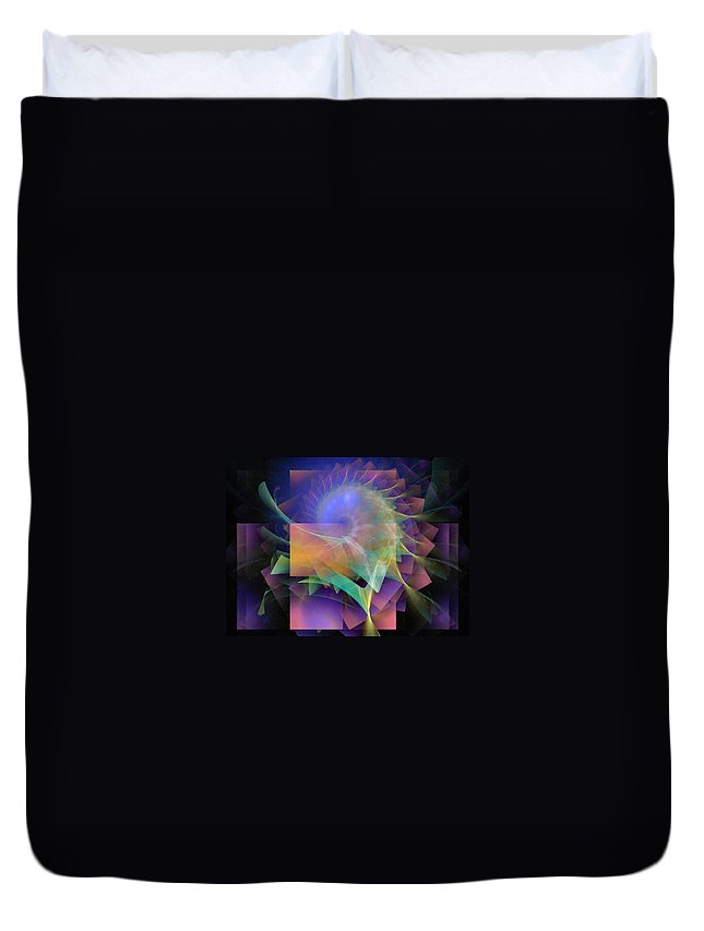 Abstract Duvet Cover featuring the digital art In What Far Place by NirvanaBlues