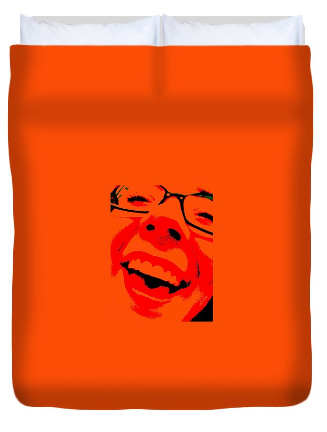 In Your Face Duvet Cover featuring the photograph In Your Face by Edward Smith