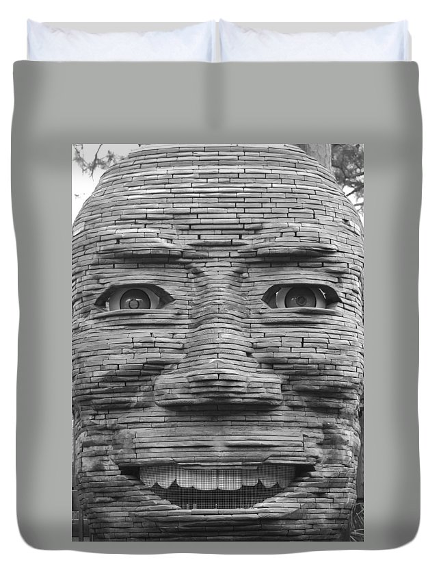 Architecture Duvet Cover featuring the photograph In Your Face by Rob Hans