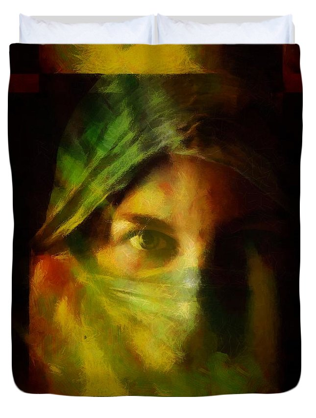 Duvet Cover featuring the digital art Incognito by Gun Legler