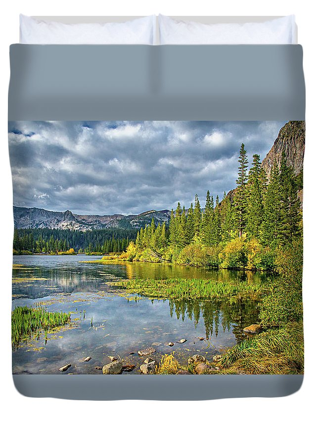Twin Lakes Duvet Cover featuring the photograph Incoming Storm At Twin Lakes by Lynn Bauer