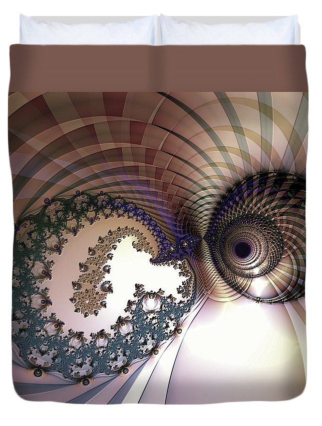 Abstract Duvet Cover featuring the digital art Incompatible Elements by Casey Kotas