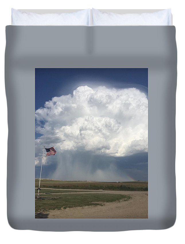 America Duvet Cover featuring the photograph Independence Day In Sioux County Nebraska by Tyler Plasencio