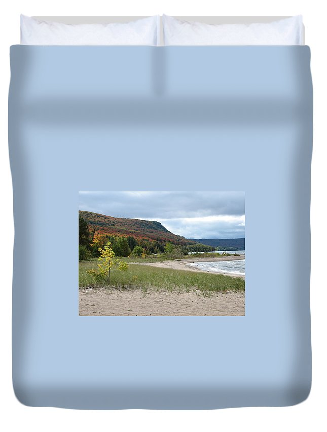 Beach Duvet Cover featuring the photograph Independence by Kelly Mezzapelle