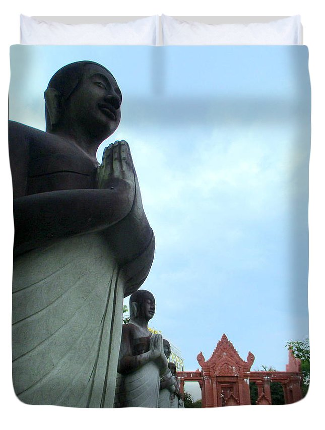 Cambodia Duvet Cover featuring the photograph Independence Park 13 by Randall Weidner