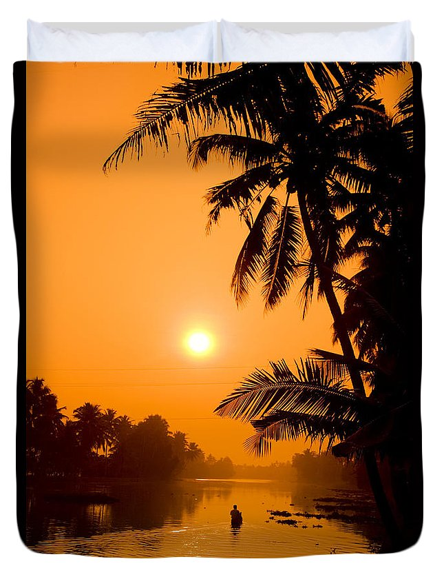 Adventure Duvet Cover featuring the photograph India Kerala by Juergen Held