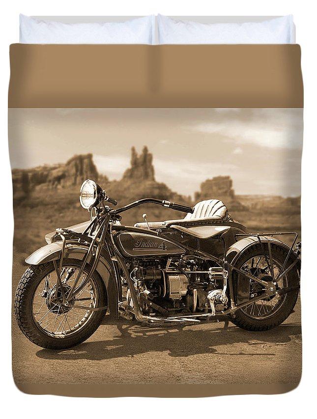 Indian 4 Sidecar Duvet Cover