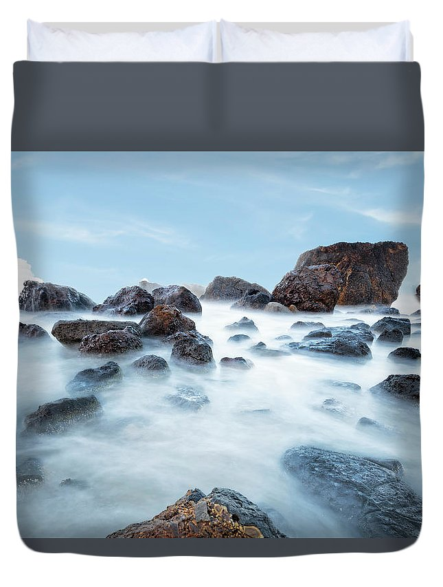 Oregon Duvet Cover featuring the photograph Indian Beach At Ecola State Park, Oregon by Kay Brewer
