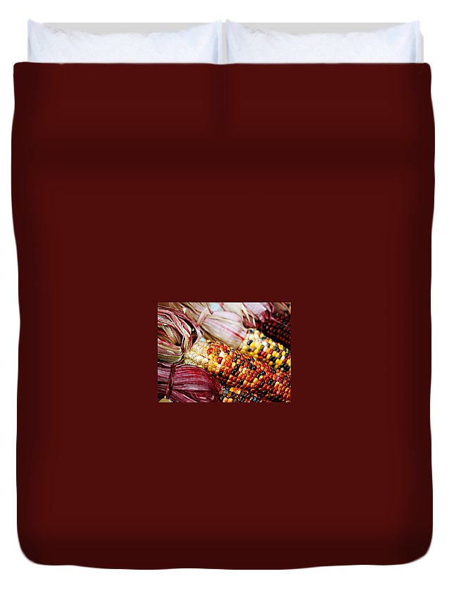Corn Duvet Cover featuring the photograph Indian Corn by Marilyn Hunt