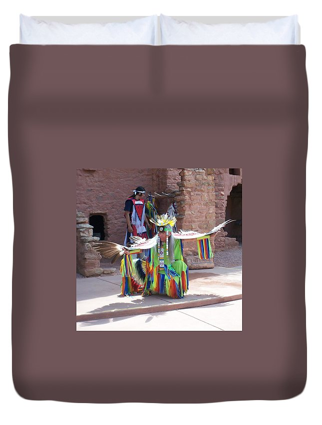 Indian Dancer Duvet Cover featuring the photograph Indian Dancer by Anita Burgermeister
