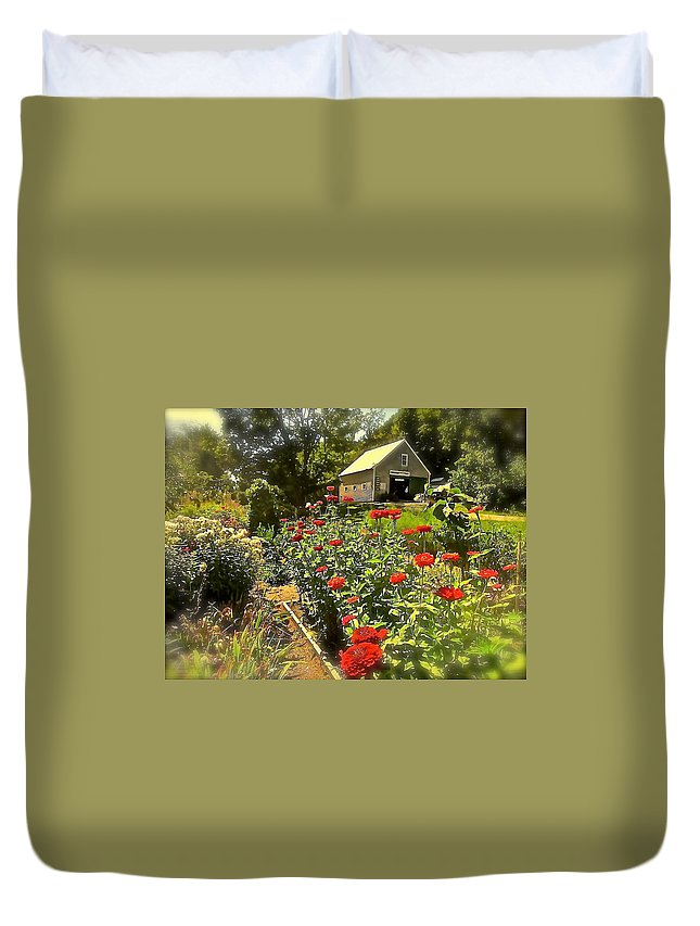 Garden Duvet Cover featuring the photograph Indian Summer Garden by Elizabeth Tillar