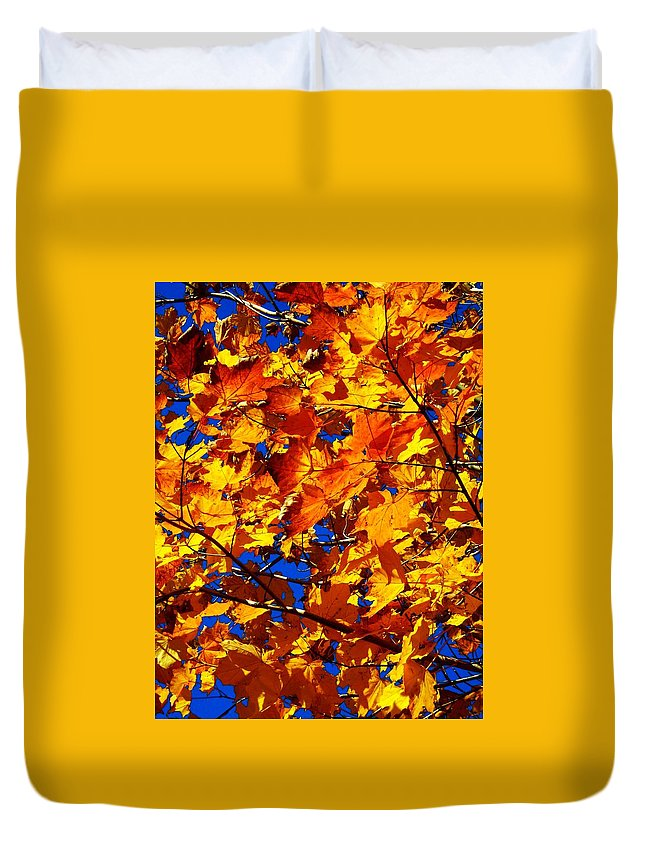 North America Duvet Cover featuring the photograph Indian Summer ... by Juergen Weiss