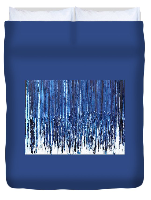 Fusionart Duvet Cover featuring the painting Indigo Soul by Ralph White