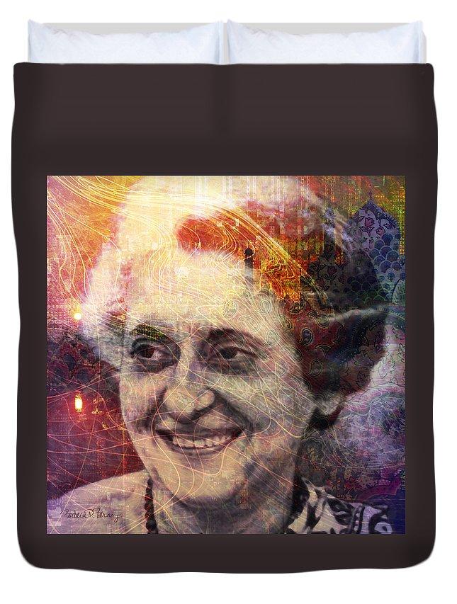 indira Gandhi Duvet Cover featuring the digital art Indira by Barbara Berney