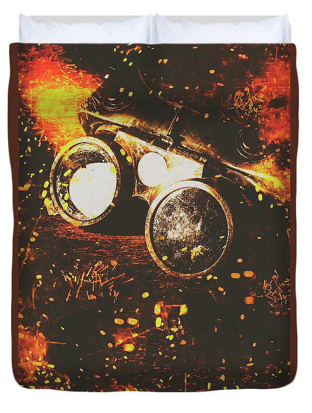 Steel Duvet Cover featuring the photograph Industry Of Artistic Creations by Jorgo Photography - Wall Art Gallery