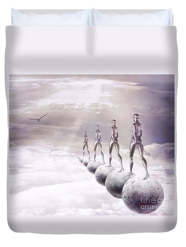 Surreal Duvet Cover featuring the digital art Infinity by Jacky Gerritsen