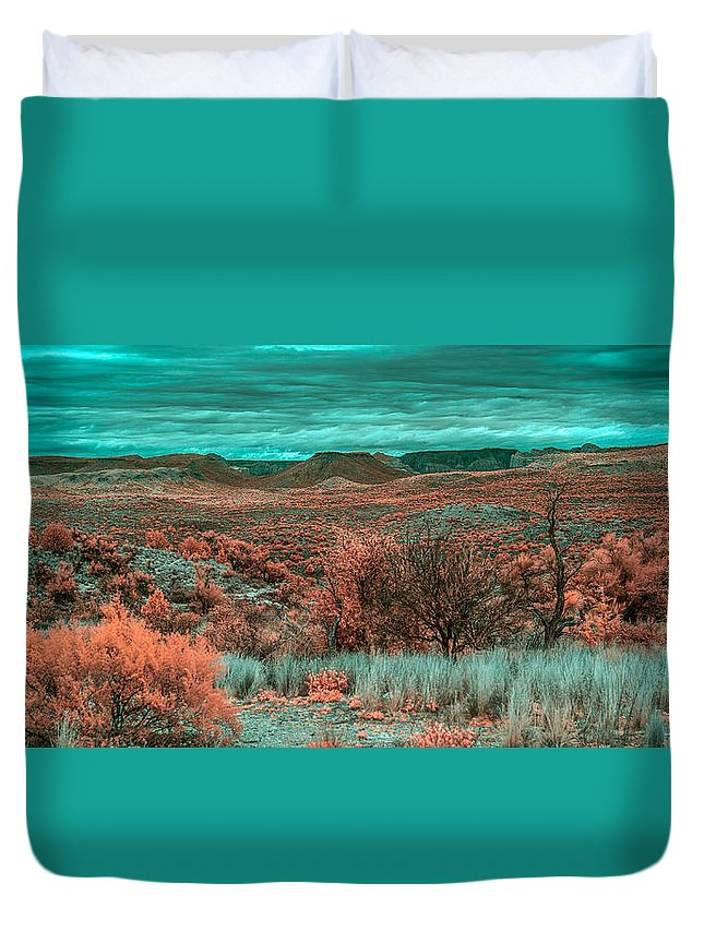 Butte Duvet Cover featuring the photograph Infrared Arizona by Paul Freidlund