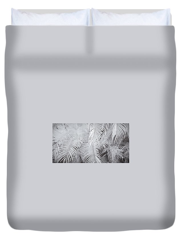 3scape Photos Duvet Cover featuring the photograph Infrared Palm Abstract by Adam Romanowicz