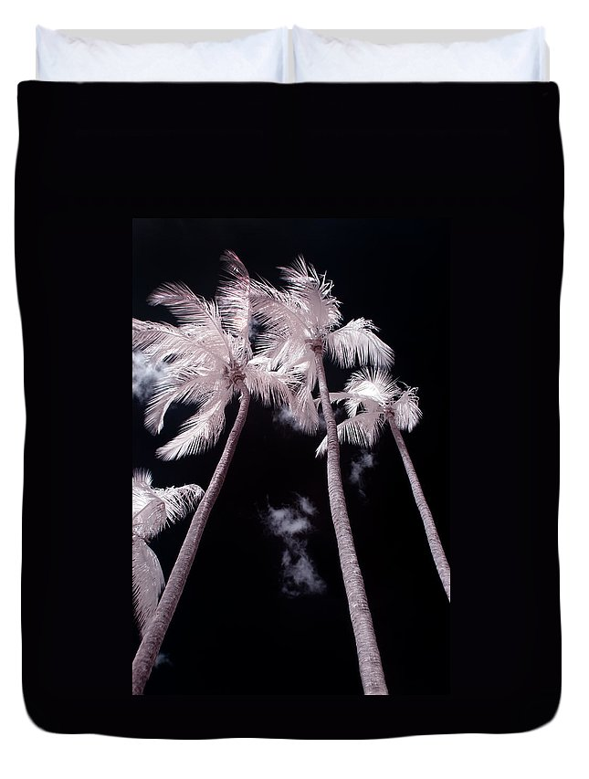 3scape Photos Duvet Cover featuring the photograph Infrared Palm Trees by Adam Romanowicz